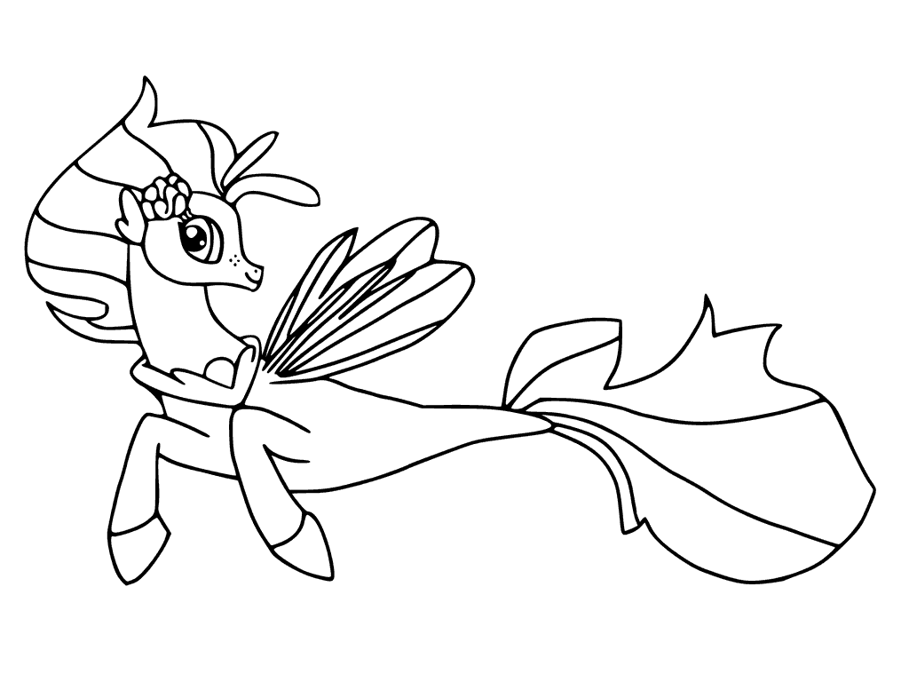 My Little Pony The Movie Coloring Page Skystar