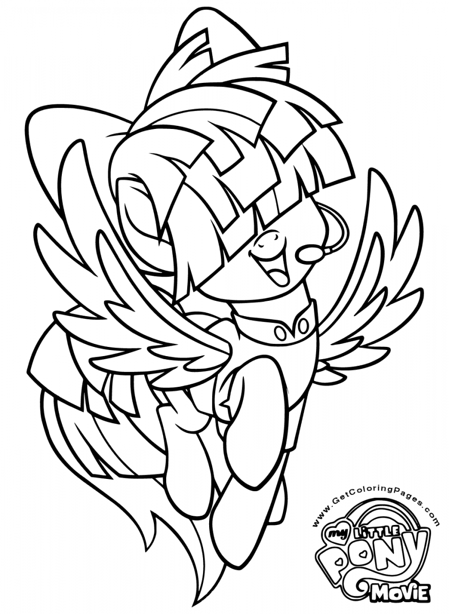 My Little Pony The Movie Coloring Page Songbird Serenade