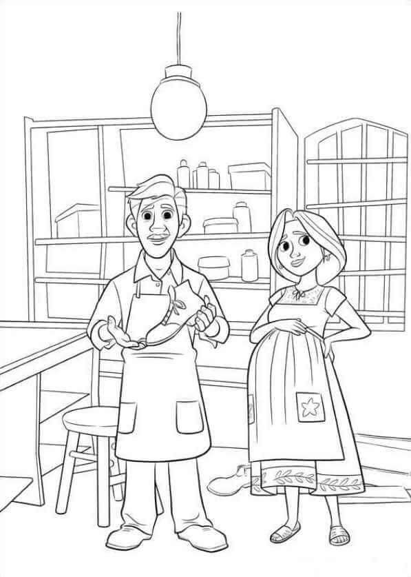 Miguel Parents Coco Coloring Page