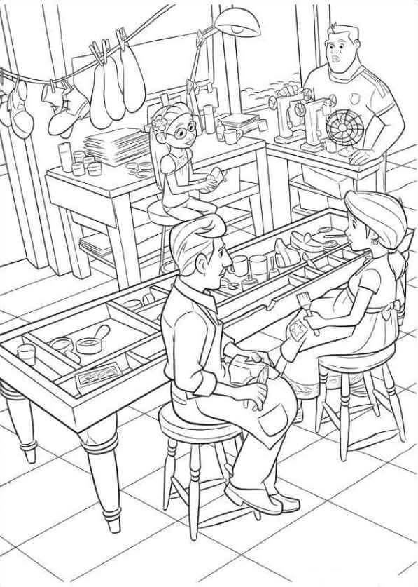 Enrique And Luisa Coco Coloring Pages