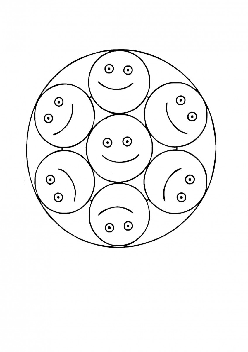 13.Silly Smilers- The Fun Employees Mandala Coloring Page