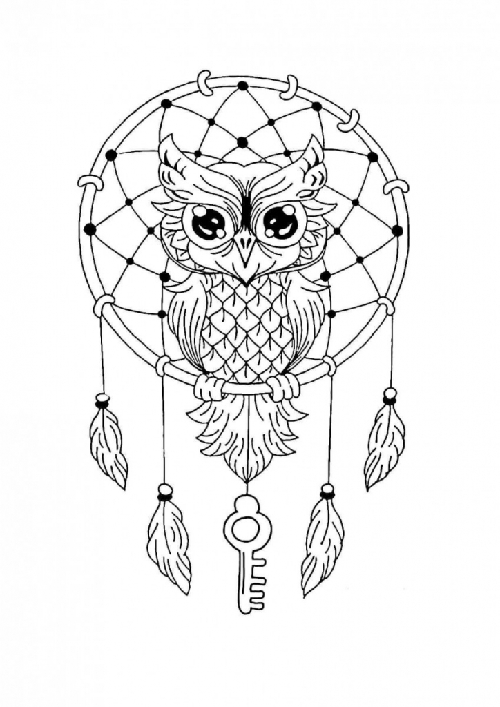 Dream catcher Mandala Coloring Page