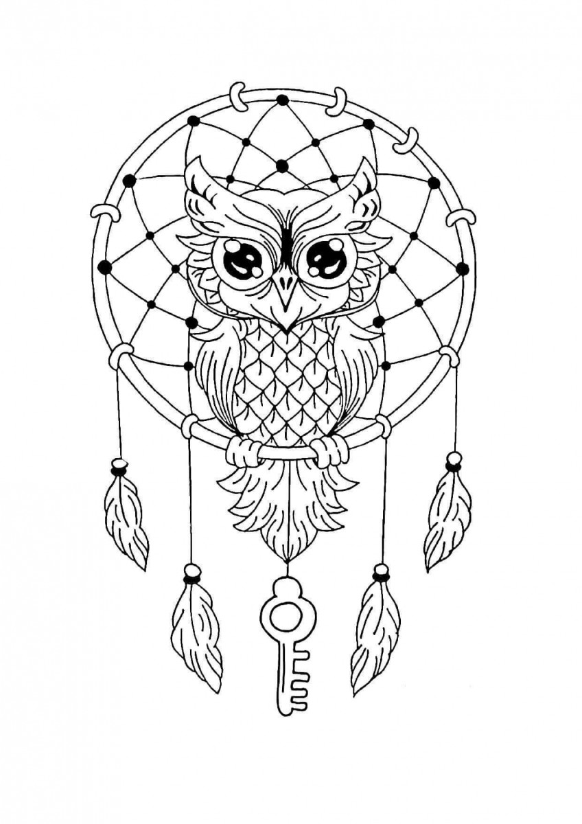 15.The Duties Of A Dream catcher Mandala Coloring Page