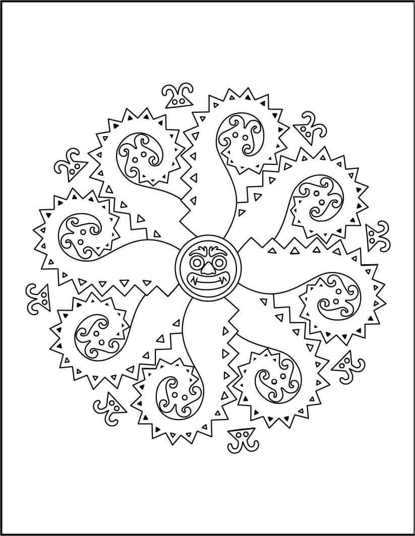 16.The Convention Of Monsters Mandala Coloring Page