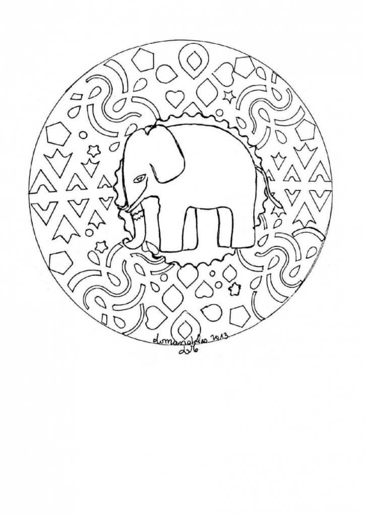 Jungle Mandala Coloring Page