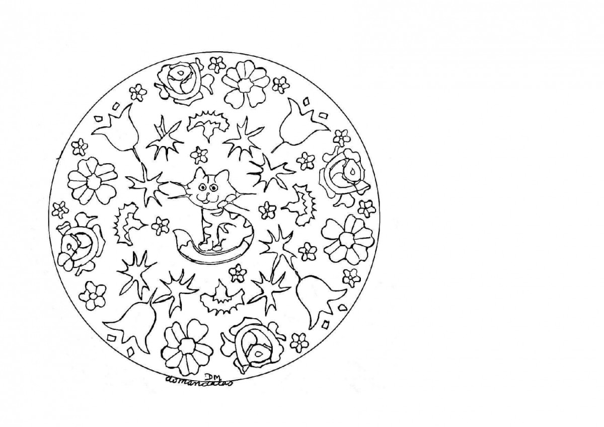 24.Millie- The Explorer Mandala Coloring Page