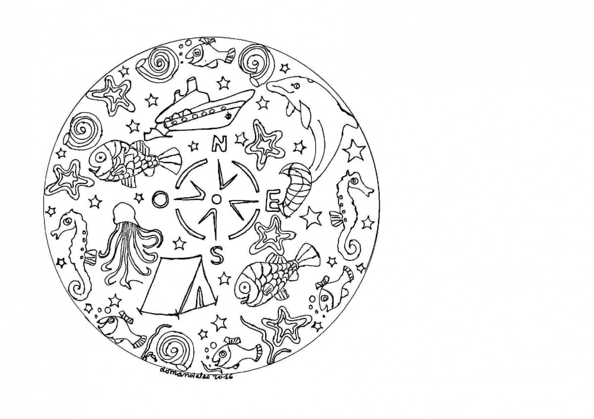 25.The Greatest Captain Of The Seas Mandala Coloring Page