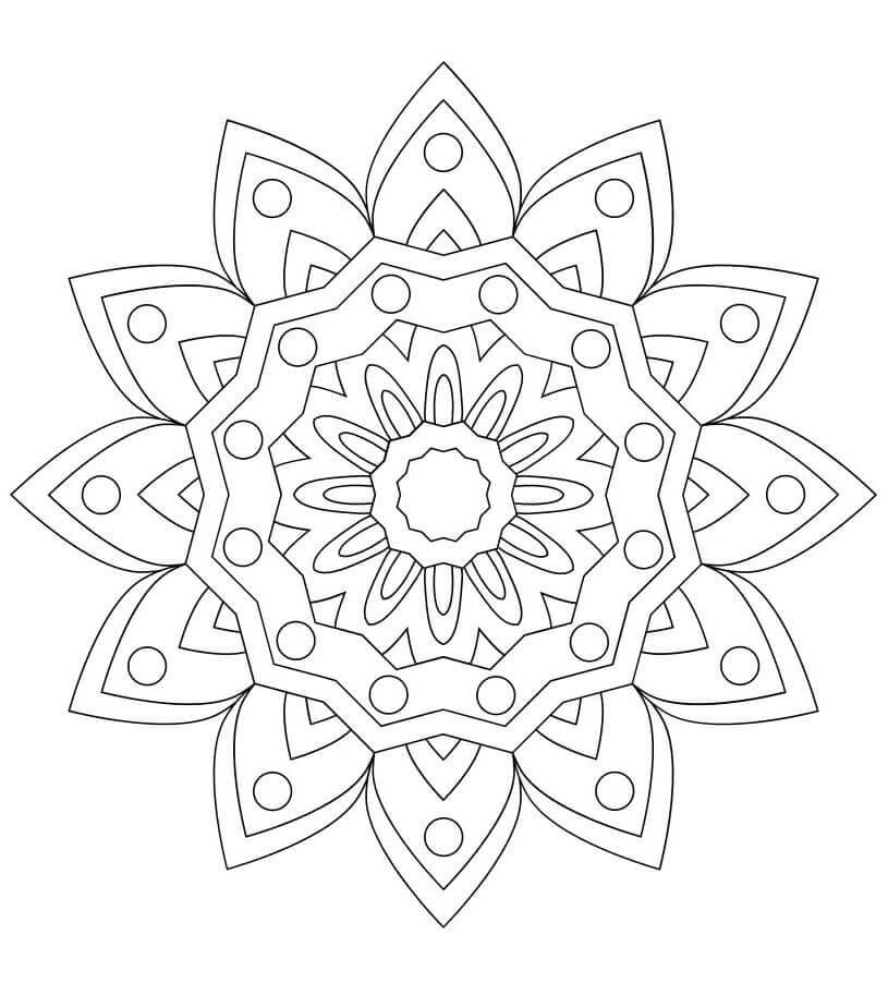 The Prince Mandala Coloring Page