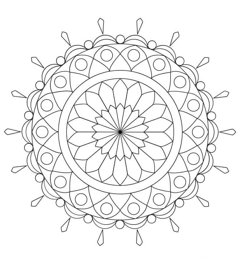 29. Best Chandelier In The World Mandala Coloring Page