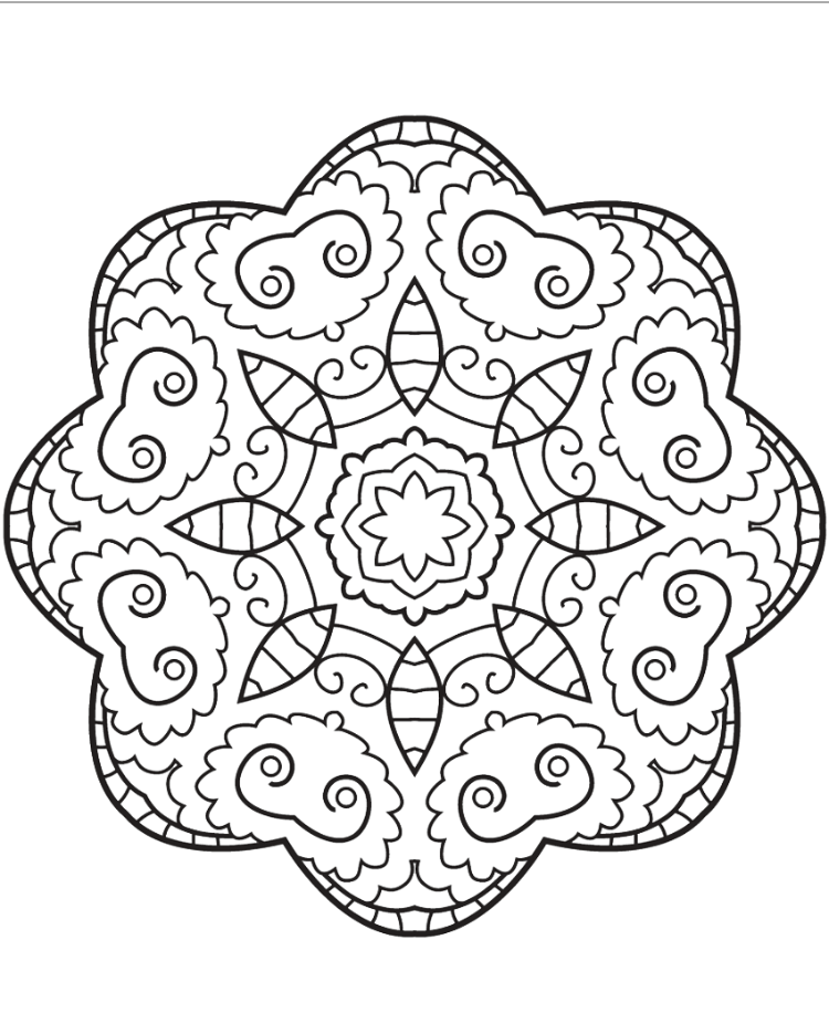 Fish Mandala Coloring Page