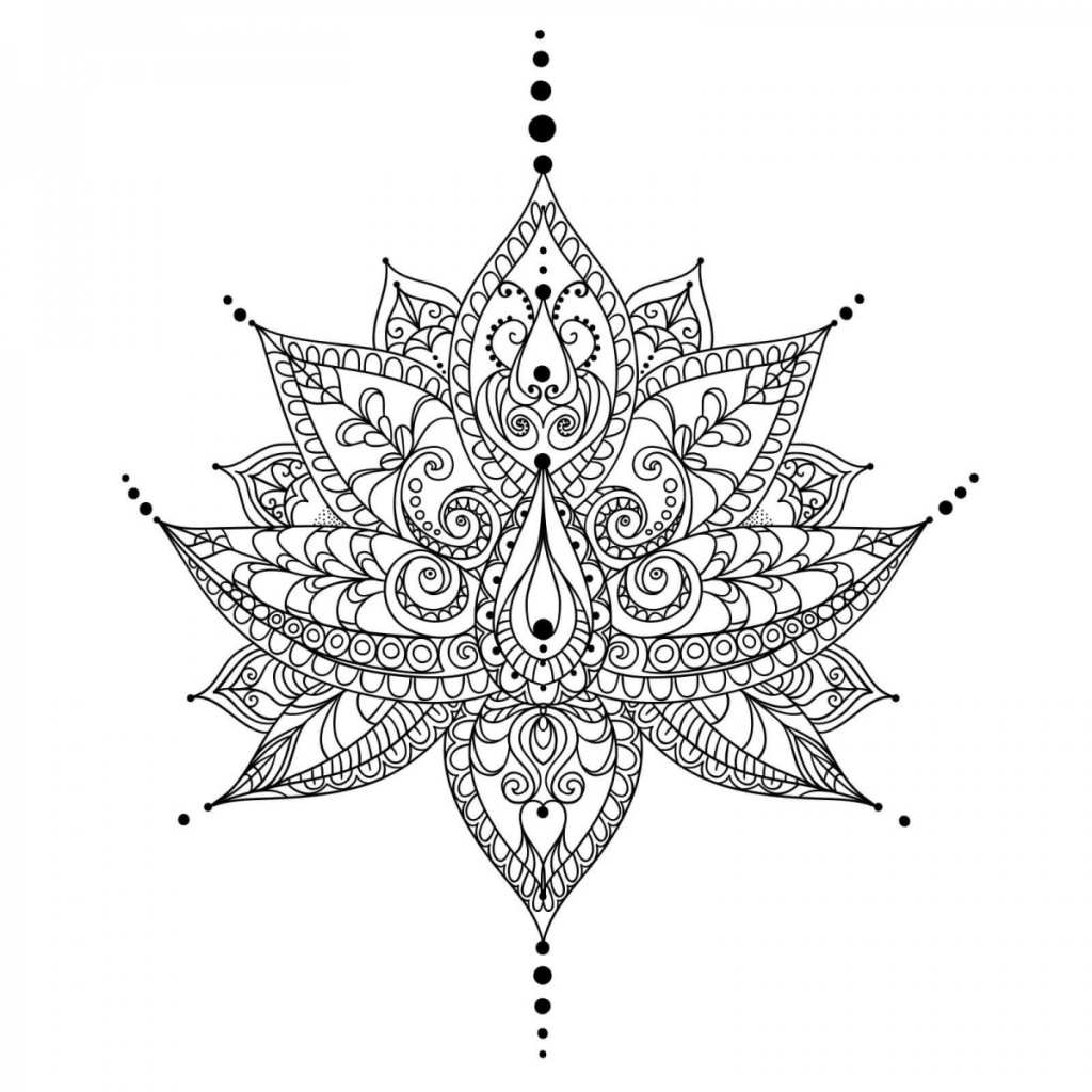 Unique Mandala Coloring Pages