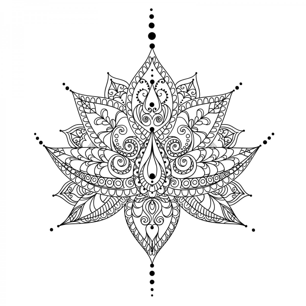 42. Unique Mandala Coloring Page