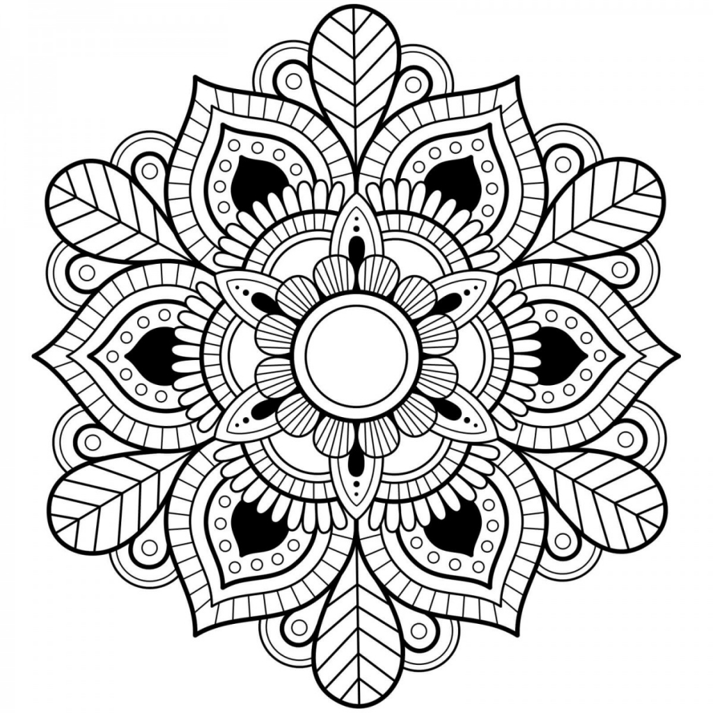 detailed mandala coloring pages
