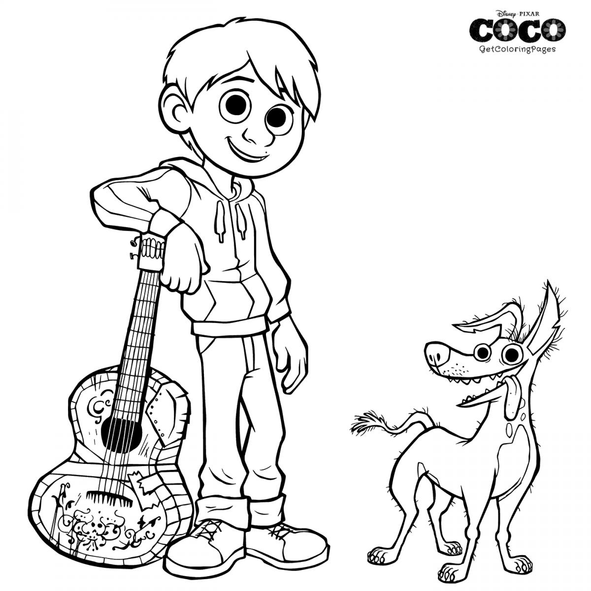 Dante And Miguel Coco Coloring Page