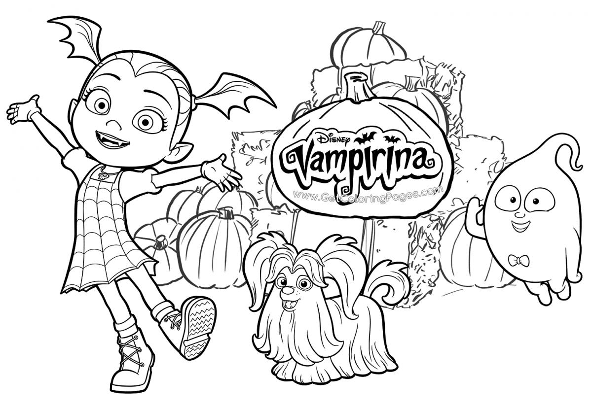 Disney Junior Vampirina Free Printable Coloring Page