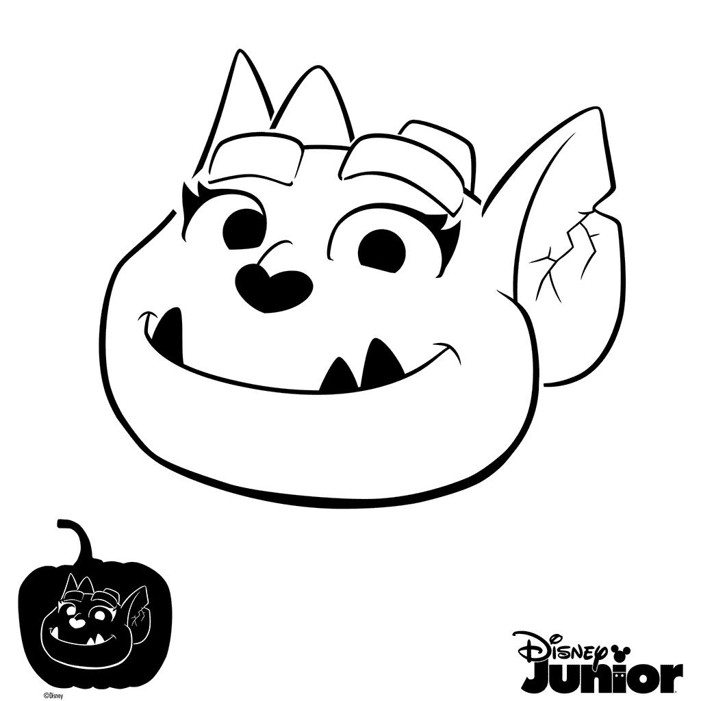 Pumpkin Stencil Vampirina Coloring Page
