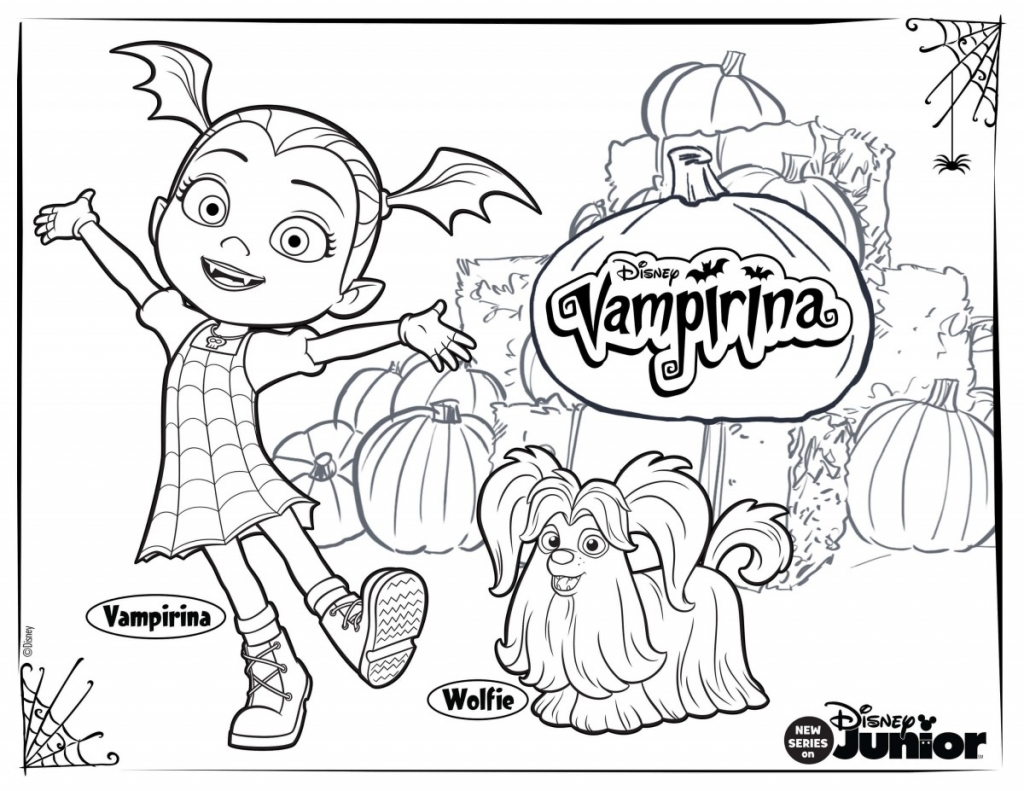 Vampirina And Wolfie Coloring Page