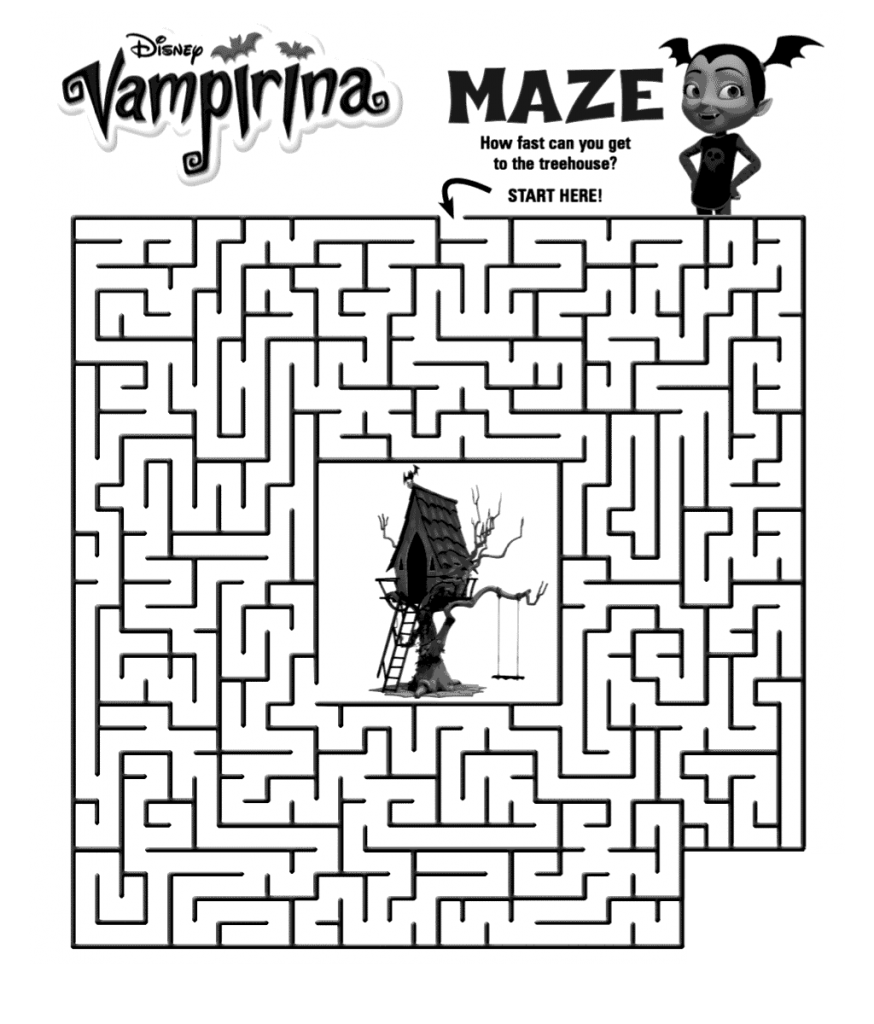 Vampirina Maze Activity Sheet