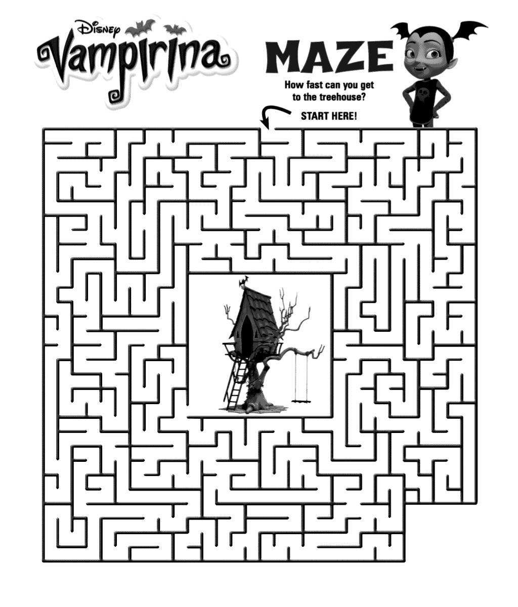 Vampirina Maze Activity Sheet