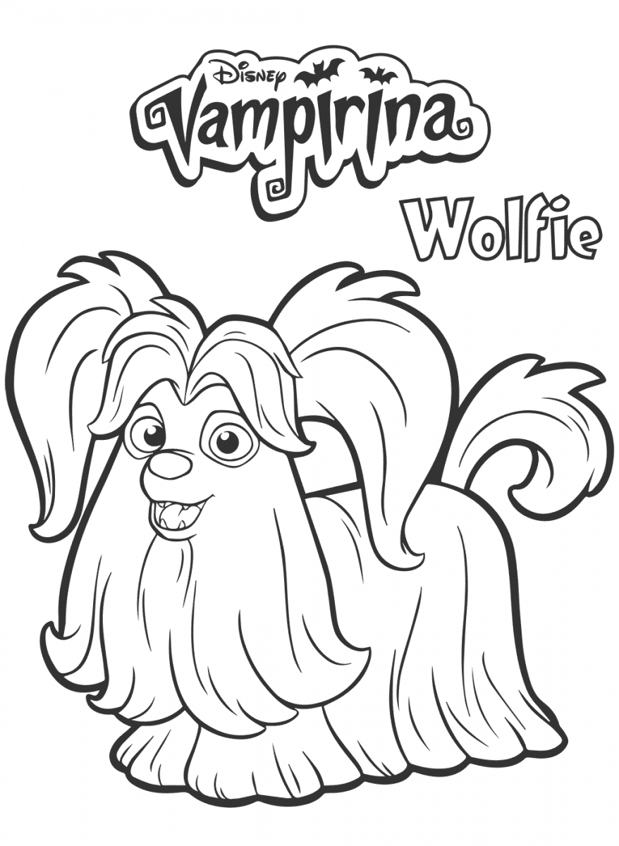 Wolfie From Vampirina Coloring Page