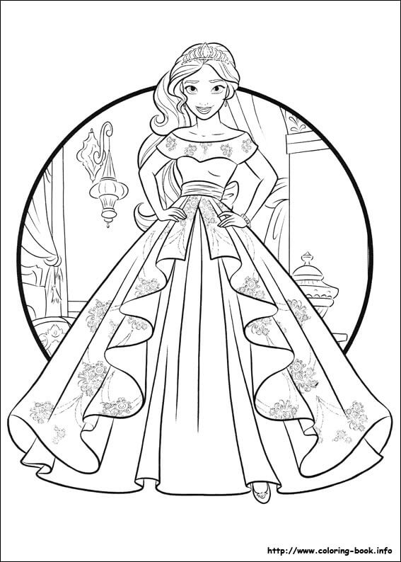 Printable Elena Avalor Coloring Pages