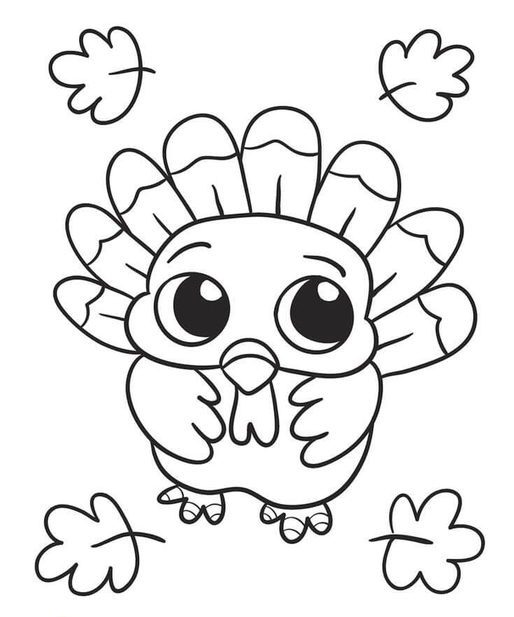 10 Mannie Loves To Play With Fallen Leaves Thanksgiving coloring page