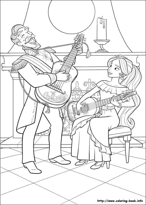Francesco And Elena Coloring Page