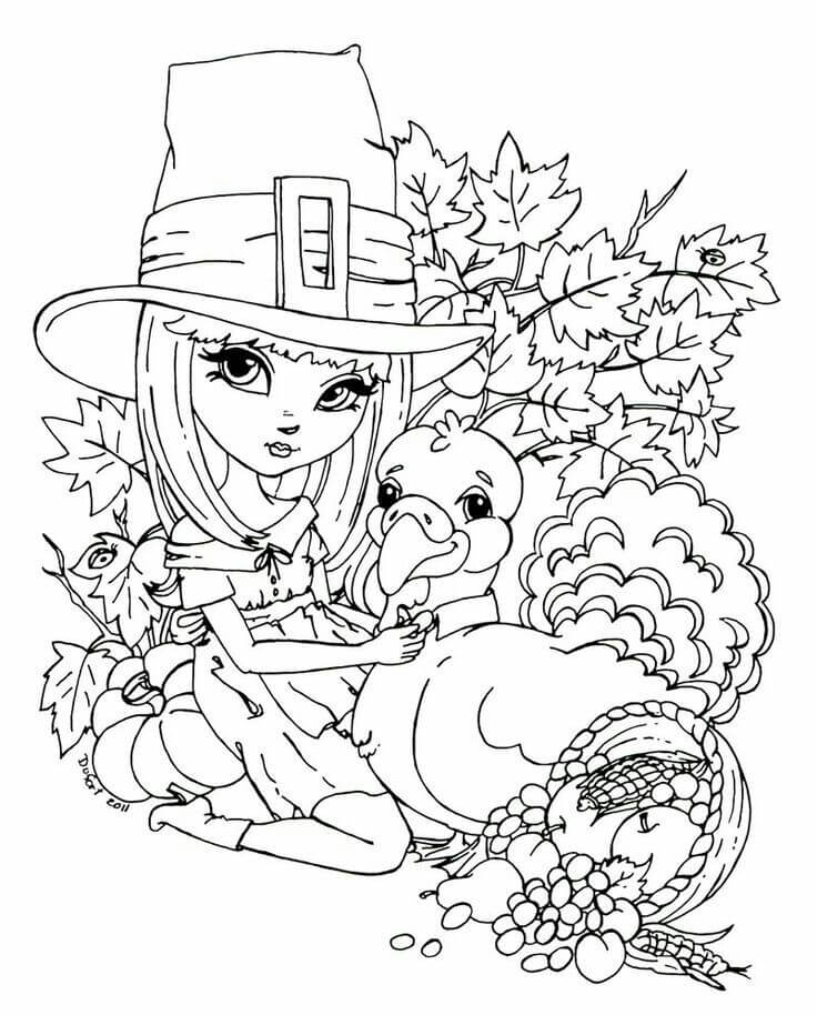 15 Bella Works For Poor People Thanksgiving coloring page