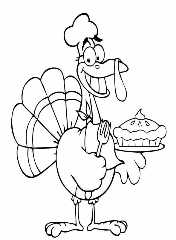 16 Cream On Top Of Pumpkin Pie Thanksgiving coloring page