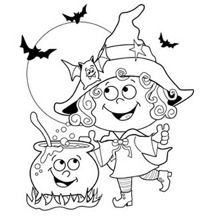 17 Magician Mary Invited Bats For Dinner Thanksgiving coloring page