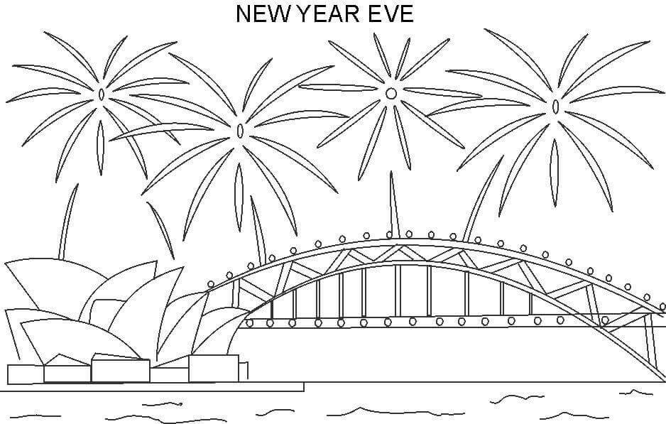 New Year Eve Coloring Page
