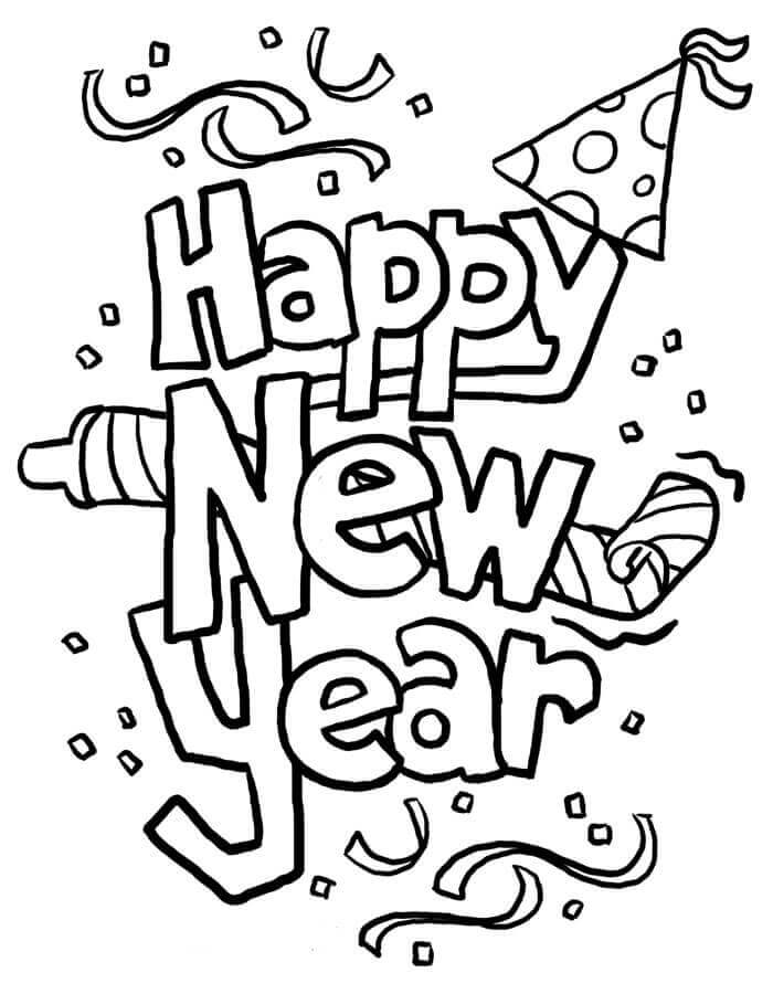 20. Happy New Year Coloring Pages