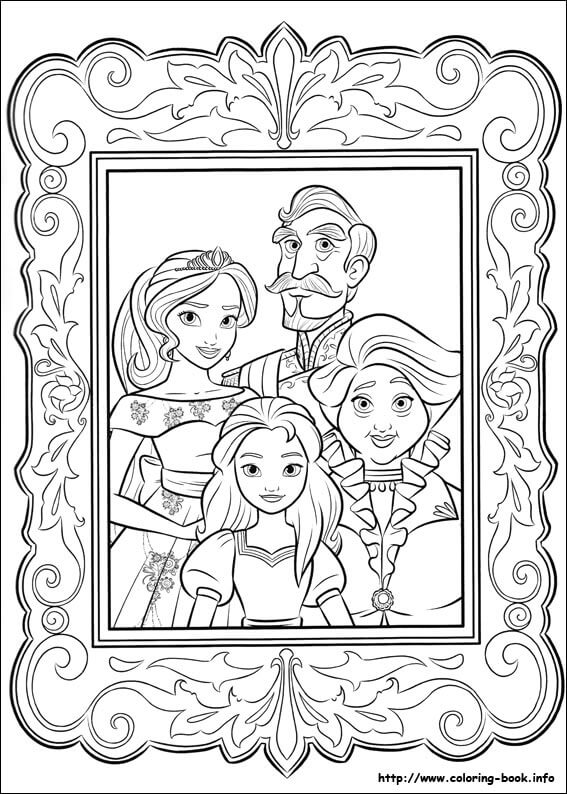 Elena Of Avalor, Franciso, Isable and Luisa Coloring Page