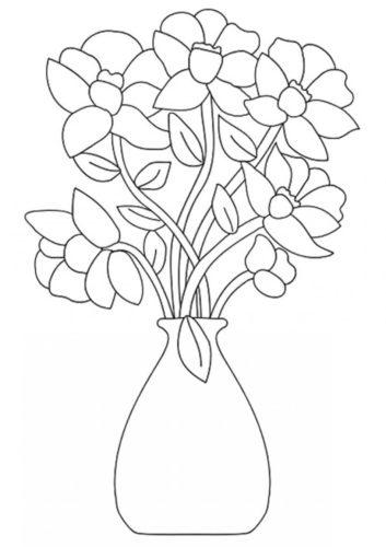 23 Flower Bouquet coloring page