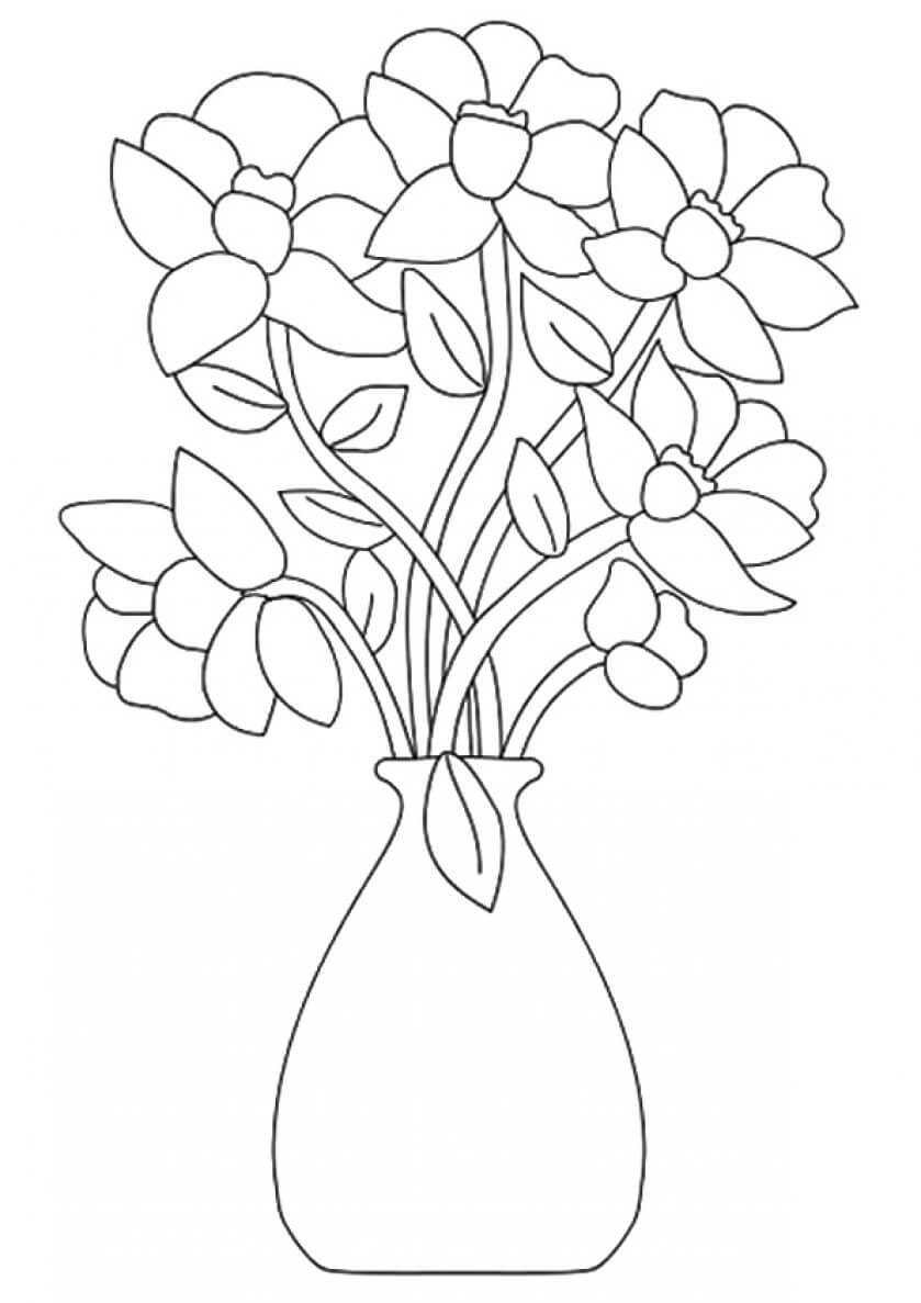 23 Flower Bouquet coloring page