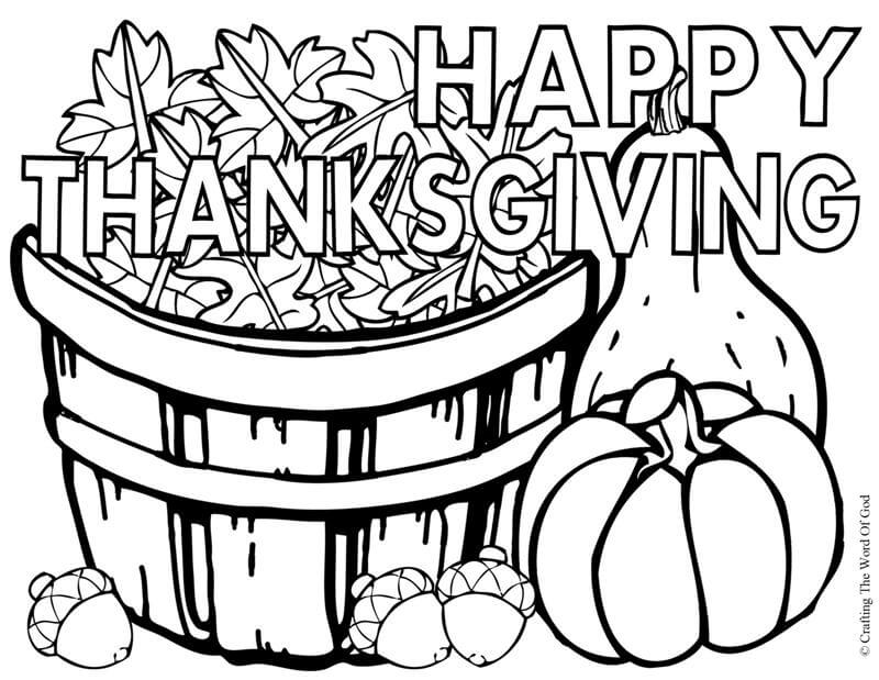 23 The Signs Of Fall Thanksgiving coloring page
