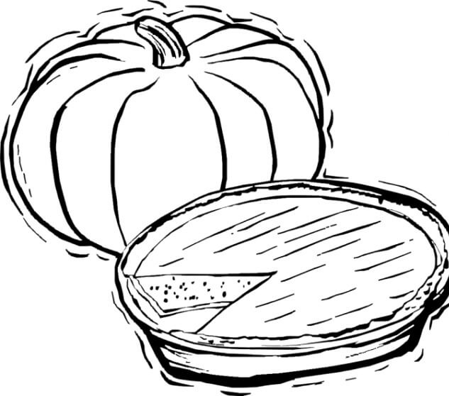 24 Pumpkin Pie Thanksgiving coloring page