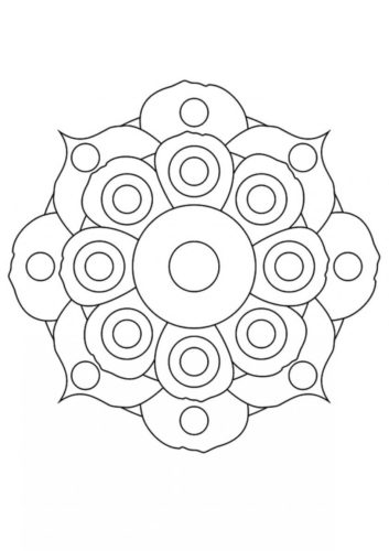 25 Flower Mandala flowers coloring pages