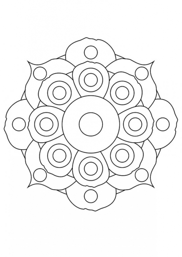 Flower Mandala flowers coloring pages