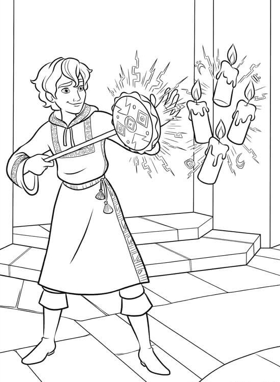 25 Mateo Showing His Powers Coloring Page