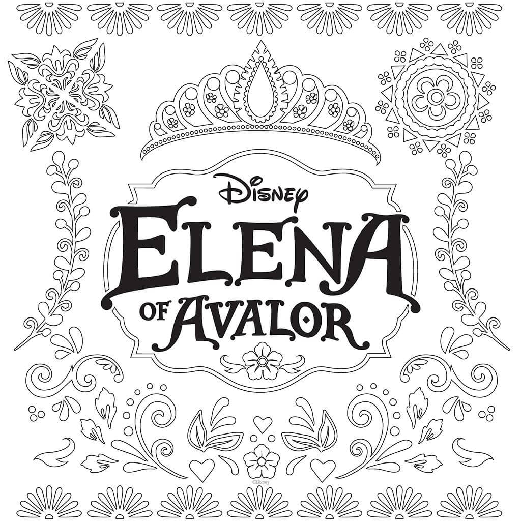 Elena Of Avalor Logo Coloring Page