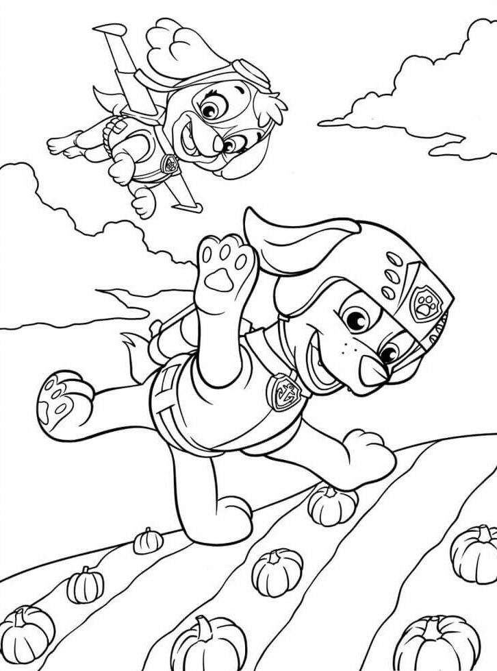28 Paw Patrol Thanksgiving coloring page
