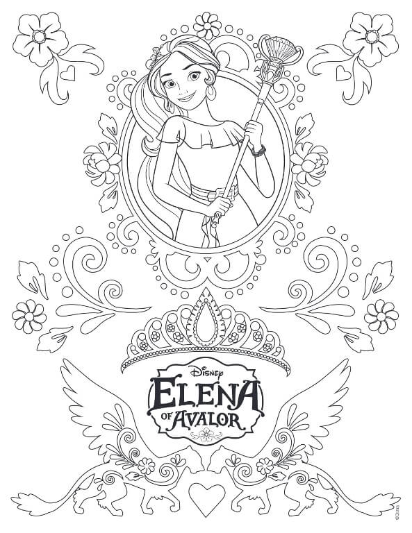 28 The Majestic Elena Of Avalor Coloring Page