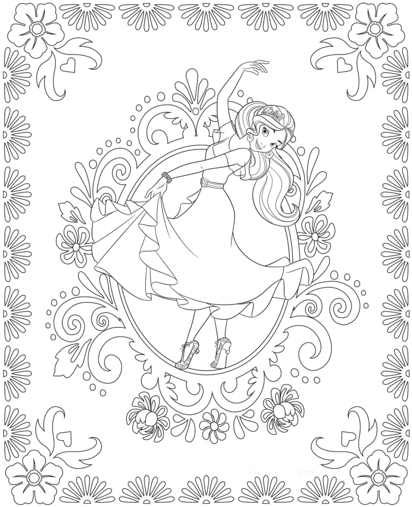 Dancing Elena Of Avalor Coloring Pages
