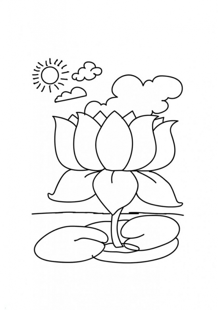 lotus flowers coloring pages - Lotus Flower Coloring Page