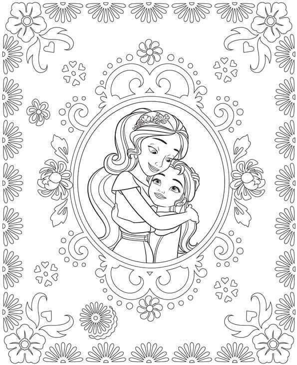 sisterly love elena of avalor coloring pages - Elena Coloring Pages