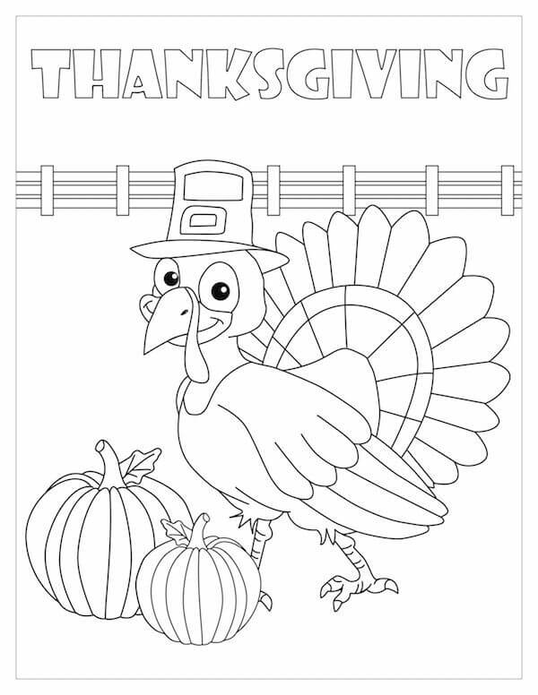 30 Turkey Thanksgiving coloring page