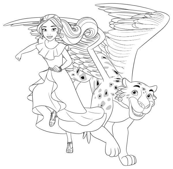 Elena And Jacquins Coloring Page