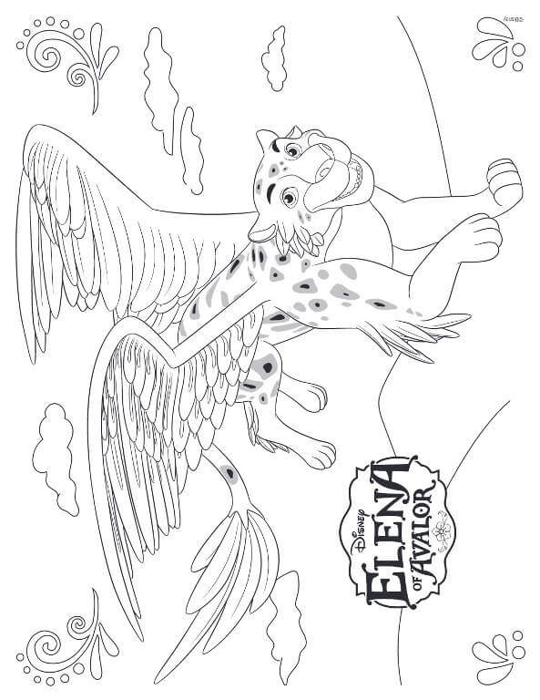 Jacquins Elena of Avalor Coloring Pages