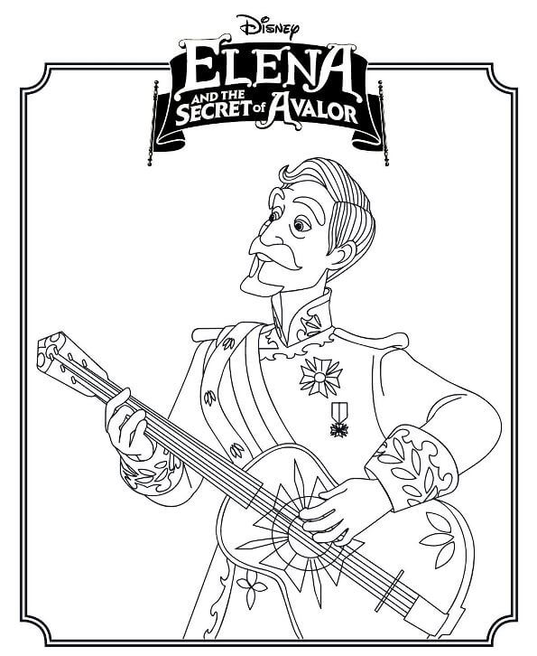 Francisco Elena Of Avalor Coloring Pages